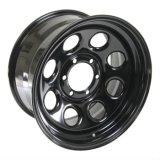 8 rotelle nere molli dell'acciaio orli di sport del foro 4X4 delle 6 alette