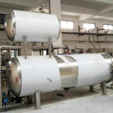 産業高圧缶詰食品の蒸気オートクレーブ