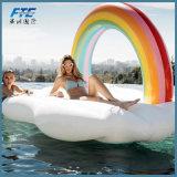 Nube de arcoiris Gaint piscina inflable de flotación de la piscina de flotación de juguete de agua