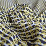 Impresa suave transpirable en tejido de poliéster gasa vestido de verano
