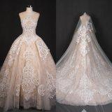 Платье венчания Qh66005 мантии шарика Шампань Bridal