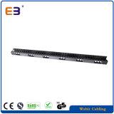 Gestore verticale di plastica del cavo dell'installazione della gestione 0u del cavo del Governo della rete
