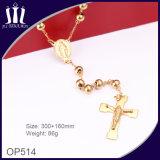 collana solida del Jesus dell'oro dei branelli di 6mm
