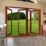 Feelingtop Alumínio Duplo Vidro Exterior Interior Porta Bi-Dobrável