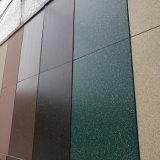 Панель стены сделанная от алюминиевой панели с каменной картиной лака