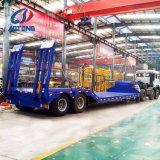 중국 Aotong 판매를 위한 3대의 차축 거위 목 모양의 관 낮은 침대 트레일러