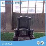 Ângulo Forma do Coração Black Granite Tombstone / Headstone / Momument Stone