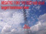 Башня передачи тангенса цепи Megatro 110kv 1h2-Ssz3 Multi