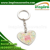 Metal Keychain da forma do coração da liga do zinco