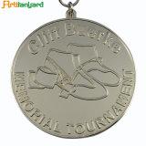 めっきされた銀が付いている顧客デザイン金属メダル
