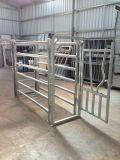 Painéis ovais da cerca dos carneiros da câmara de ar de Austrália 6rails/painéis de aço do gado