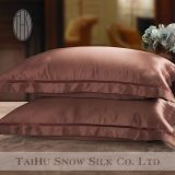 Taie d'oreiller en soie Sham colorée d'Oxford de broderie de luxe en soie de neige de Taihu meilleure pour les cheveux et la peau