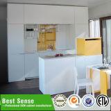 Grossy branco Modular Kitchen Gabinete