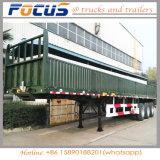 semi Aanhangwagen van de Lading van de Zijgevel van de Container van 12.5m Flatbed met Sloten