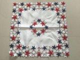Mantel americano del estilo del bordado del cutwork hecho a mano