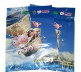 Gestempelschnittene gedruckte kaufende Plastiktaschen für das Geschenk fördernd (FLD-8588)