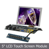Монитор дюйма СИД SKD 5 с сопротивляющим сенсорным экраном 4-Wire