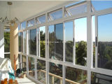 Aluminio de cristal doble sellado silicón Windows de desplazamiento para la casa