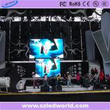 P3.91&P4.81 단계 고용을%s 실내 LED 스크린 임대 전시 영상 벽