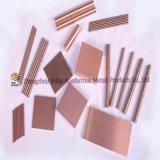 Piezas de la aleación de cobre del tungsteno, W80cu20, W90cu10
