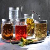 Personalizzare il vaso di muratore di vetro della sfera del vaso di muratore dell'ostruzione del vaso del muratore del vaso del miele dell'articolo da cucina