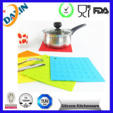 Silicone mou durable carré Placemat anti-calorique