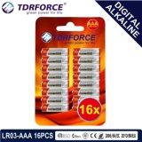 pile sèche alkaline primaire de Digitals de fabrication de 1.5V Chine (LR03-AAA 16PCS)