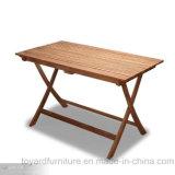 De openlucht Koffietafel van de Lijst van de Teak van het Terras van het Meubilair van de Tuin Moderne Houten Vierkante Vouwende