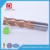 Высокая точность 4 флейта карбида вольфрама со стороны шагающим подом мельницей