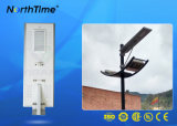 80W Smart Phone contrôleur MPPT contrôlé tout-en-un Streer Lampes solaires