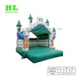 Grünes alter Mann-weiches Schloss-aufblasbarer springender Prahler für Kinder