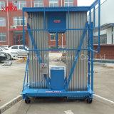 4-18m doppelter Mast-China-beste verkaufende hydraulische mobile Aluminiumantenne, die teleskopischen Aufzug mit preiswertem Preis bearbeitet