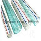 Extrudeuse en plastique de qualité pour la chaîne de production renforcée par acier de boyau de PVC