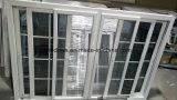 방충망을%s 가진 알루미늄 석쇠 디자인 4 창유리 UPVC Slidng Windows