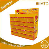 Surgir el estante acanalado almacenaje publicitario promocional del soporte de visualización del supermercado de la exposición de la cartulina