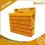 Surgir el estante de visualización promocional del almacenaje del supermercado de la cartulina con las ranuras