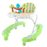 Ходок младенца голубого цвета напольный с 8 колесами шарнирного соединения для сбывания