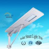 2017 Novo Design LED integrado Rua Lâmpada da Luz Solar 70W
