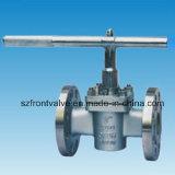 Form-Stahl flanschte Enden-Stecker-Ventil