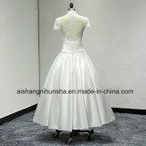 Robe nuptiale arrière fine de robes de mariage de circuit de robe nuptiale de satin