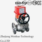モーターを備えられた2PCは弁電気アクチュエーターを搭載するステンレス鋼の球フランジを付けたようになった