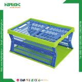 Caisses se pliantes compressibles en plastique sans couvercles pour les livres de transport