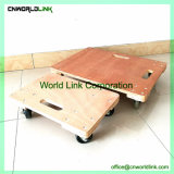 Material faz um cavalinho Crate Movimentador de madeira com 2 orifícios Dolly