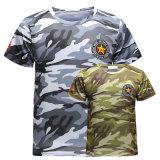 جيش [ت-شيرت] رجال [ت-شيرت] فصل صيف سريعة [درينغ] قصير كم [ت-شيرت] عرضيّ [ت] قميص