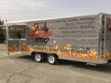 Chariot multifonctionnel de cabine de restauration de café de caravane de cheval avec la tente de logo