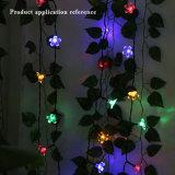 Peach forma parte de la boda de la pared de tierra Multicolorful Cadena Solar decoración tira bolas de bombilla LED Linterna Lámpara de luz