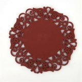 Flores Round Coasters de silicone Candy Color Insulation Pads Placemats Cup Mats
