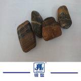 高品質の磨かれた黒またはトラの皮の玉石および小石の石