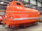 Bote salvavidas libre ininflamable de la caída de la capacidad de 16 personas