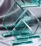 Clear Blank Jade Glass Award, Glass Trophy Wholesale